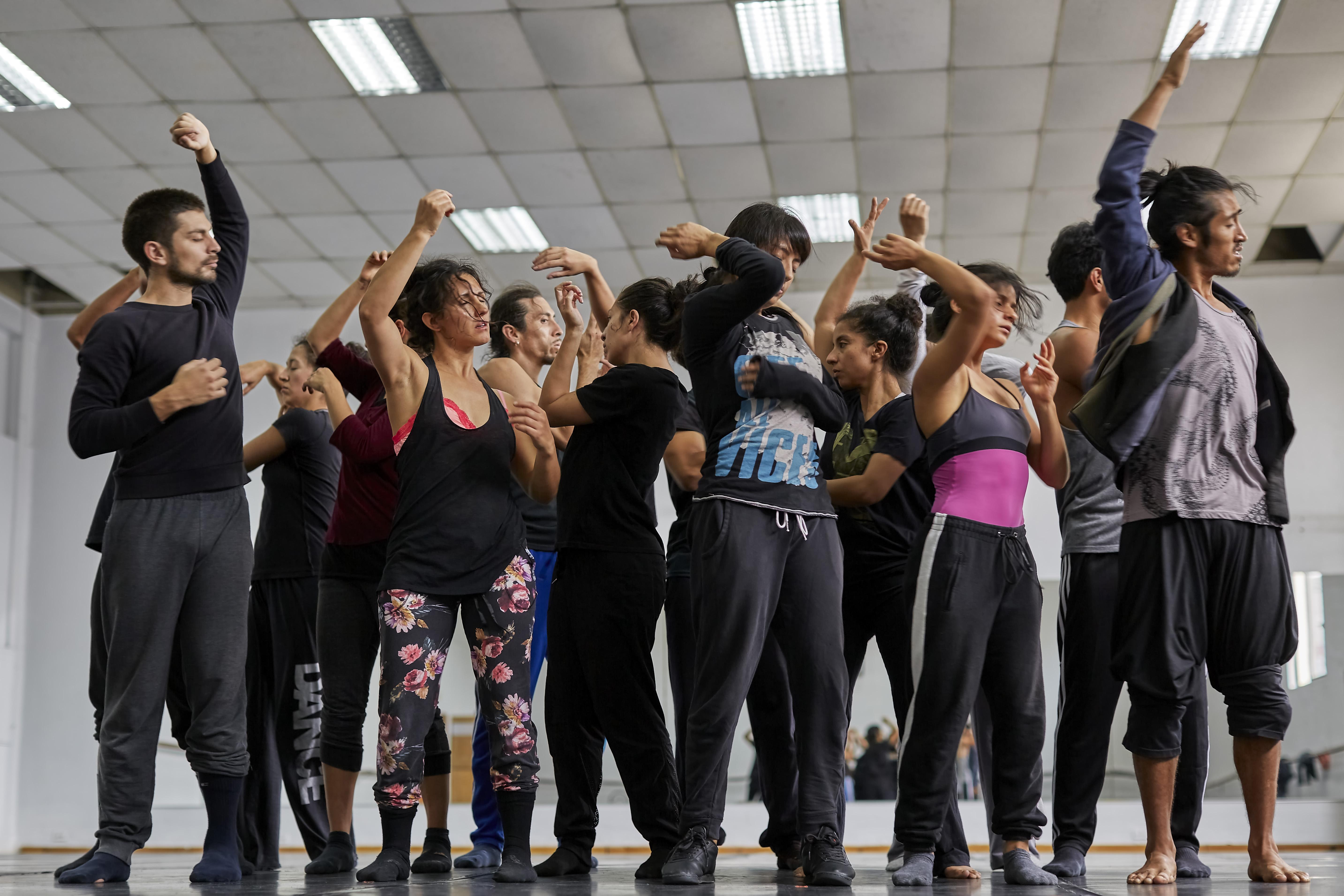 Elenco de la Compañía entrena con #DanzaEnCasa