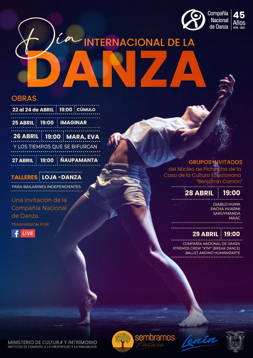 Por el Día Internacional de la Danza, Compañía presenta una programación virtual del 22 al 29 de abril