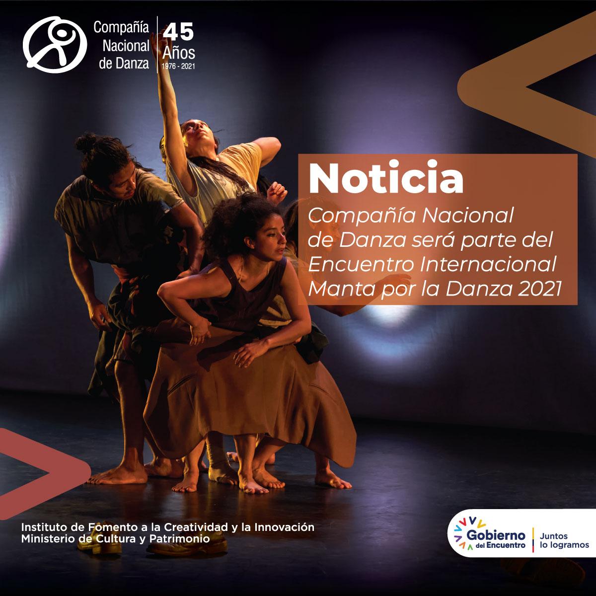 Compañía será parte del Encuentro Internacional Manta por la Danza 2021