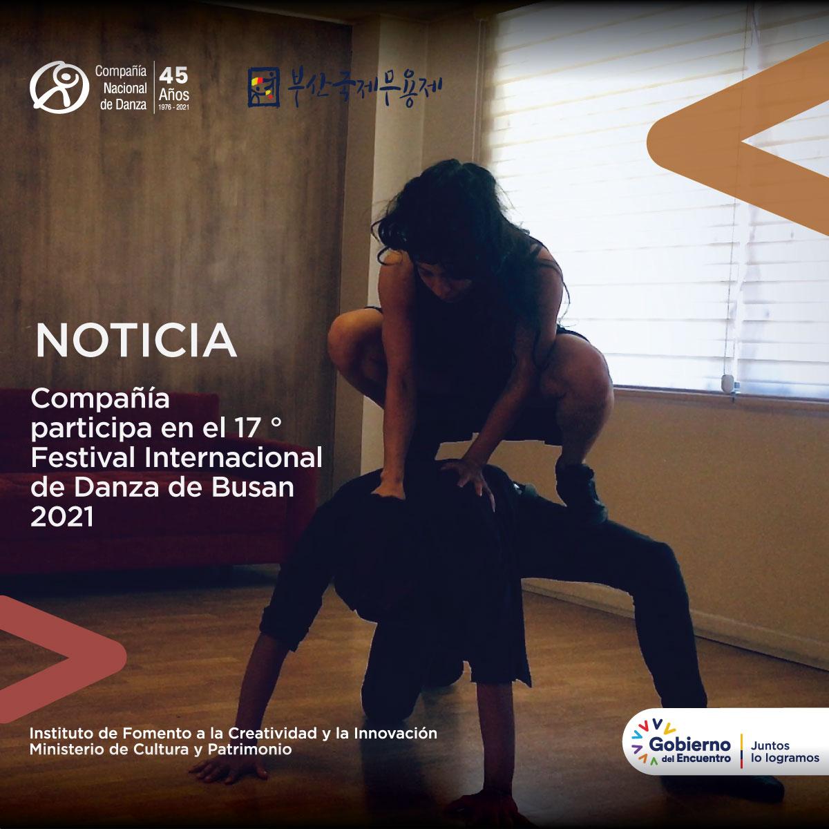 Compañía Nacional de Danza participa en el 17 ° Festival Internacional de Danza de Busan 2021