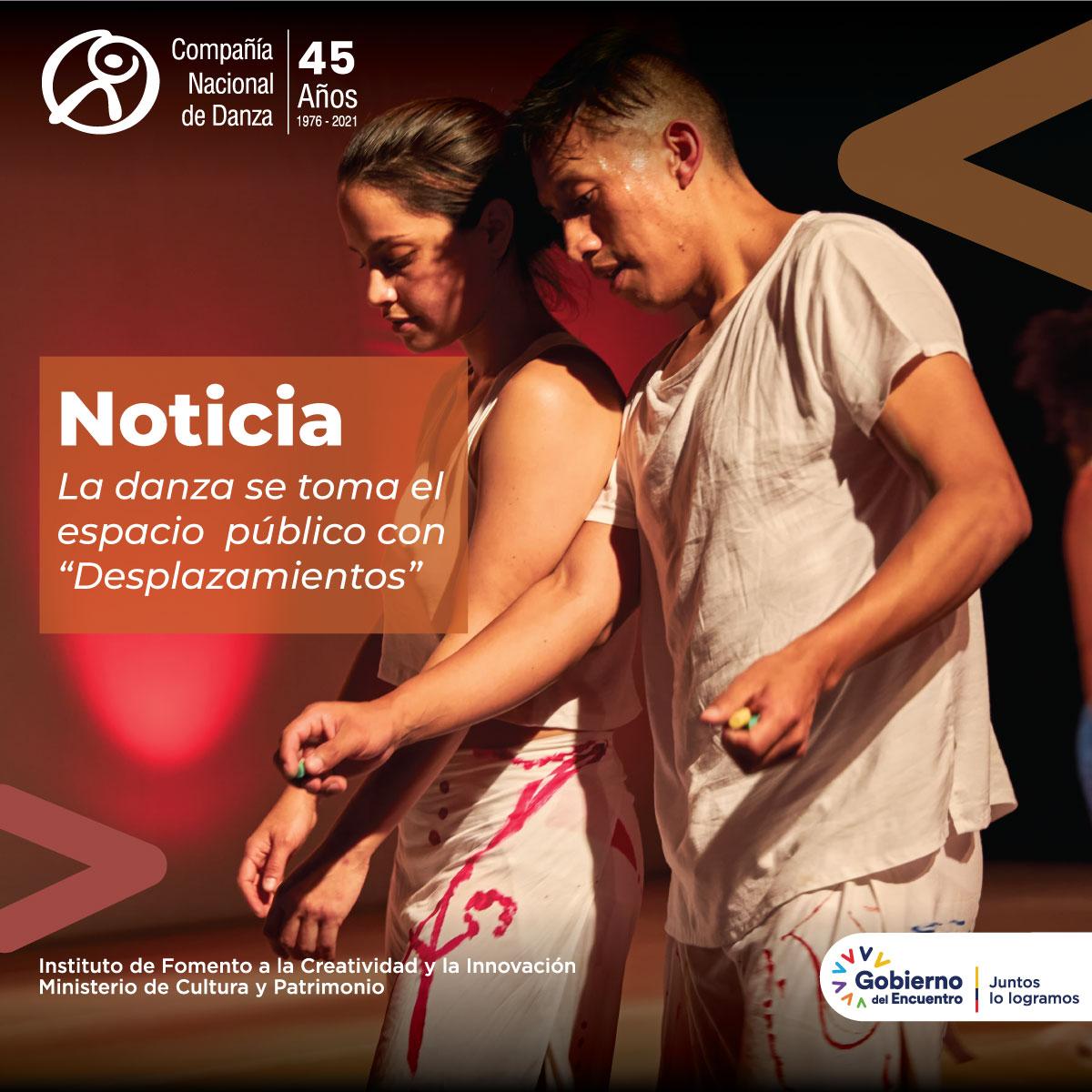 """La danza se toma el espacio público con """"Desplazamientos"""""""